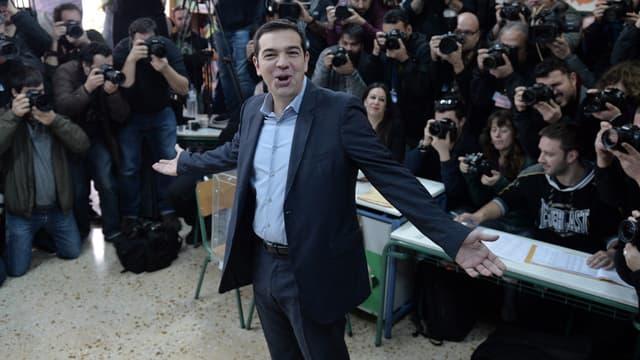 Le candidat de Syriza et possible futur Premier ministre grec Alexis Tsipras