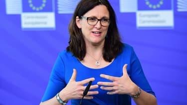"""Cecilia Malmstrom, commissaire européen au Commerce, a salué un climat de négociation """"constructif"""" avec la Russie."""
