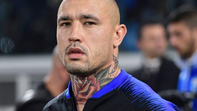 Le milieu de l'Inter Milan Radja Nainggolan est attendu par son coach Luciano Spaletti.