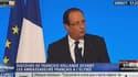 François Hollande, devant les ambassadeurs français réunis à l'Elysée, ce mardi.