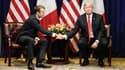 Emmanuel Macron et Donald Trump lors de leur rencontre à New York, le 24 septembre 2018.