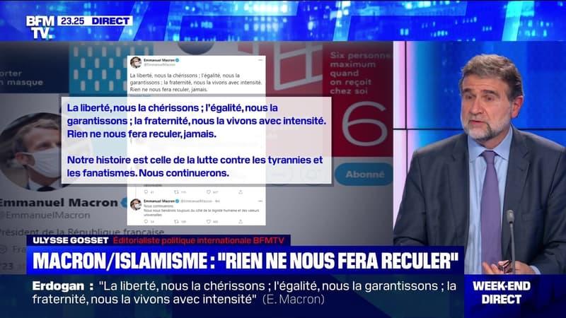 Macron / islamisme: «Rien ne nous fera reculer» – 25/10