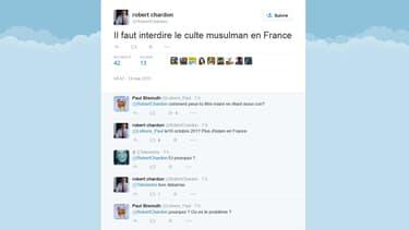 Compte twitter de Robert Chardon