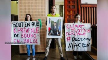 Charles de Lacombe est jugé mercredi à Lyon pour avoir décroché un portrait d'Emmanuel Macron.