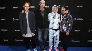 Les Red Hot Chili Peppers le 6 février 2016 à San Francisco