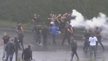 La rixe entre supporters marseillais et lyonnais a eu lieu samedi 18 mai au niveau du péage de Bollène sur l'autoroute A7