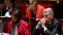 La ministre des Affaires sociales, Marisol Touraine et Jean-Marc Ayrault à l'Assemblée.