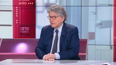 Thierry Breton sur le plateau de BFM Politique le 18 avril