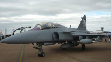 Un Gripen NG du Suédois Saab, le modèle choisi par le Brésil.