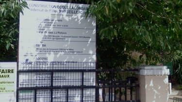 Entrée du lycée privé Lacordaire le 13e arrondissement de Marseille