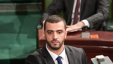 Rached Khiari devant l'Assemblée tunisienne, à Tunis, le 8 décembre 2019.