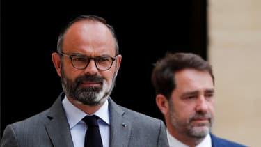 Le Premier ministre Édouard Philippe et le ministre de l'Intérieur Christophe Castaner, à Matignon le 22 mai 2020