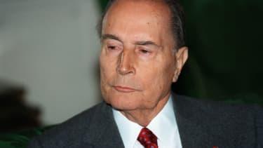 François Mitterrand à Paris, en novembre 1993.