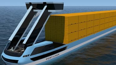 Financé à hauteur de 7 millions d'euros par l'Union Européenne, le projet du néerlandais Port Liner prévoit la construction de barges fluviales 100 % électriques.