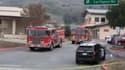 Les secours à proximité du lieu du crash de l'hélicoptère de Kobe Bryant