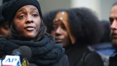 La compagne d'Akai Gurley, Kimberly Ballinger, le 11 février 2015 à New-York