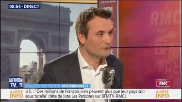 """Florian Philippot sur sa proposition de liste commune avec François Asselineau: """"Il a refusé et choisi l'isolement, tant pis"""""""