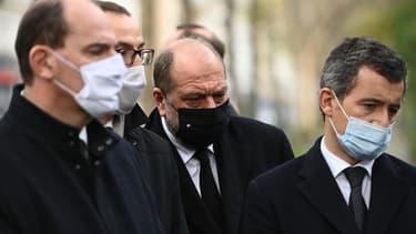 Gérald Darmanin et Éric Dupond-Moretti le 13 novembre 2020 à Paris.
