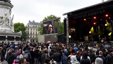 Un concert contre le FN était donné jeudi 4 mai sur la place de la République, à Paris.