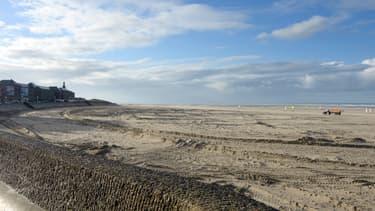 Vue d'une plage de Berck.