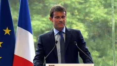 Manuel Valls s'exprime devant les patrons, le 27 août 2014.