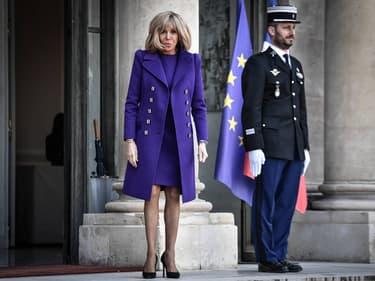 Brigitte Macron, à l'Elysée.