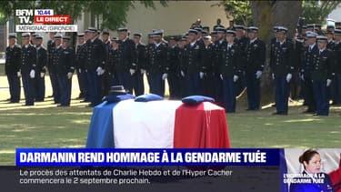 Darmanin rend hommage à la gendarme tuée - 09/07