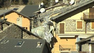 A Valdeblore, les toits ont été soufflés par le vent