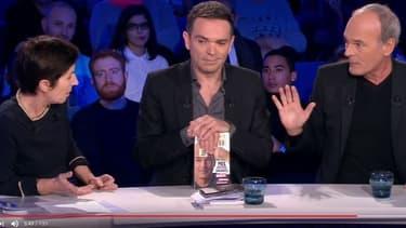 Christine Angot, Yann Moix et Laurent Baffie dans ONPC