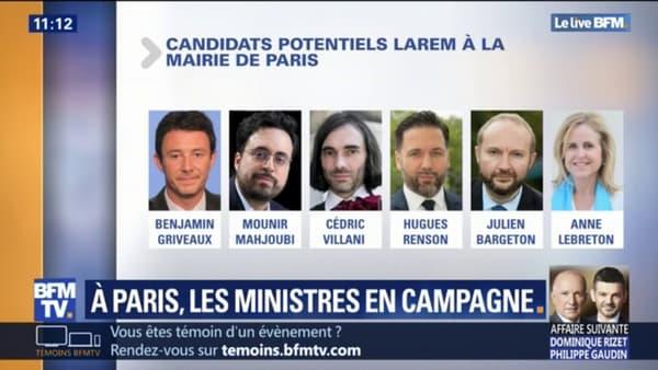 Les possibles candidats de la majorité à la mairie de Paris