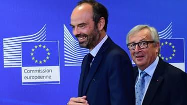 """Jean-Claude Juncker, président de la Commission européenne, a salué """"l'effort structurel"""" fait par le gouvernement d'Édouard Philippe."""