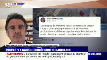 """Éric Piolle """"déplore fortement"""" le soutien de Gérald Darmanin à la manifestation des policiers"""