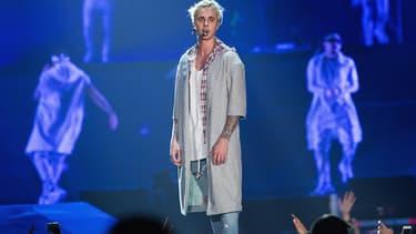 Justin Bieber sur scène à Seattle en mars 2016