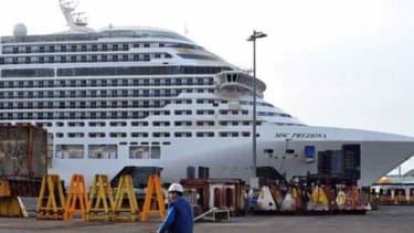 Le Preziosa, plus grand paquebot commandé en Europe, a été construit aux chantiers STX de Saint-Nazaire.