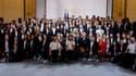Les médaillés français aux JO 2021 lors de la réception à l'Elysée