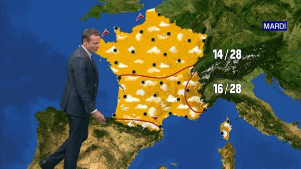 Les prévisions météorologiques du mardi 2 juin 2020.