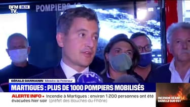 """Incendie à Martigues: Gérald Darmanin évoque """"un drame pour l'intégralité de la biodiversité"""""""