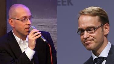 Jörg Asmussen (à gauche) et Jens Weidmann (à droite) vont se livrer un duel à distance