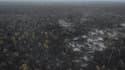 Vue aérienne des dommages causés par les incendies en Amazonie ce 26 août