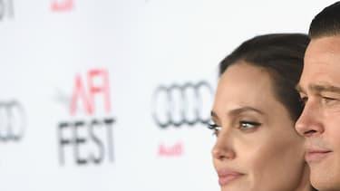Brad Pitt et Angelina Jolie le 5 novembre 2011