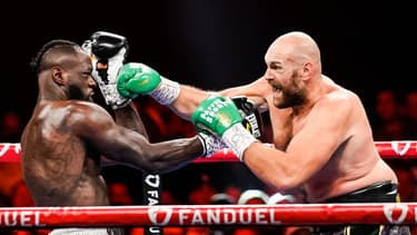 Tyson Fury lors de son troisième combat face à Deontay Wilder