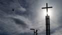La croix de l'église évangélique de la Porte ouverte à Mulhouse, le 4 mars 2020.