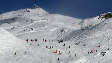 Piste de ski aux Menuires en Savoie