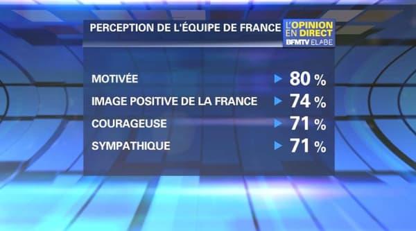 L'équipe de France est perçue comme motivée et sympa