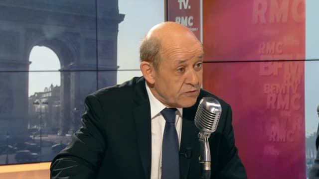 Jean-Yves Le Drian sur BFMTV et RMC le 22 mars.