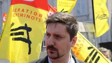 Laurent Brun, secrétaire général de la CGT-Cheminots