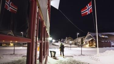 La ville de Longyearbyen, sur l'archipel arctique du Svalbard en Norvège.