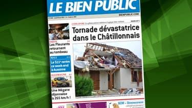 Une soixantaine de maisons ont été endommagées par la tornade, l'événement a fait la une de Bien Public..
