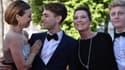 """Xavier Dolan et les acteurs de son film """"Mommy"""", couronné samedi à Cannes du prix du jury."""
