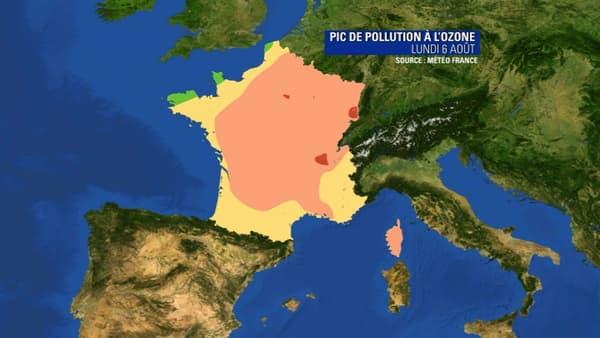 Pollution à l'ozone.
